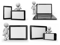 Ballhead avec des dispositifs de supports électroniques Images stock