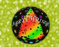 Ballhintergrund der frohen Weihnachten Vektor Abbildung