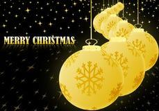 Ballhintergrund der frohen Weihnachten goldener Weihnachts Vektor Abbildung