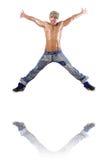 Balli di dancing del ballerino Immagini Stock