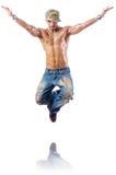 Balli di dancing del ballerino Fotografie Stock Libere da Diritti