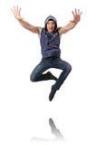 Balli di dancing del ballerino Immagine Stock