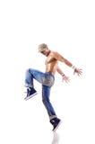 Balli di dancing del ballerino isolati Immagini Stock Libere da Diritti
