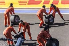 Balli l'apertura del primo Gran Premio della Russia Fotografia Stock Libera da Diritti