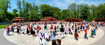 Balli tradizionali bulgari Immagini Stock
