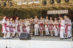 Balli tradizionali rumeni fotografia stock libera da diritti