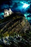 Ballibunion Castle Ruins. Castle ruins in coastal town Ballibunion (Baile an Bhuinneanaigh), County Kerry, Ireland Royalty Free Stock Photos