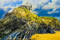Ballibunion Castle Ruins royalty free stock photos