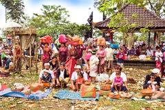 balliceremoni kuningan galungan indonesia royaltyfri bild