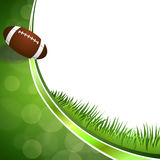 Ballillustration des amerikanischen Fußballs des Hintergrundes abstrakte grüne Stockbilder