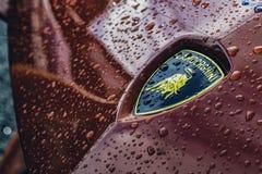 Free Ballina, County Mayo / Ireland - September 9, 2019: Lamborghini Logo, Photo Taken On The Cannonball Race Ireland. Stock Photography - 160291932