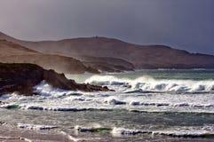 Ballinskelligs Bay. Rough seas on the Dingle Peninsula, Co.Kerry, Ireland Stock Photos