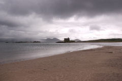 Ballinskelligs Beach In A Cloudy Day Stock Images