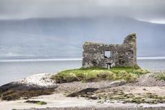 Ballinskelligs Castle, δαχτυλίδι της ιρλανδικής αγελάδας στοκ φωτογραφίες