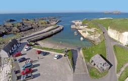 Ballintoy港口Co 安特里姆北爱尔兰 免版税库存图片