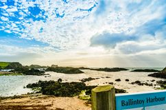 Ballintoy Harbor in Northern Ireland. Ballintoy, Northern Ireland: Dramatic landscape of the Ballintoy  Harbor shoreline on the Atlantic Ocean coastline stock images