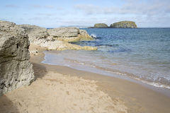 Ballintoy Harbour Beach; County Antrim. Northern Ireland stock photography