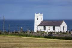 Ballintoy Parish Church - County Antrim - Northern Ireland. Ballintoy Parish Church is the main Church of Ireland church of the small town of Ballintoy, County stock photo