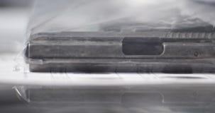 Ballistics CSI πείρα πυροβόλων όπλων απόθεμα βίντεο