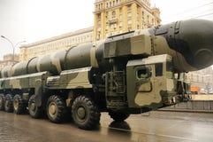 Ballistische kernraket stock afbeelding