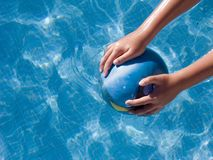 Balll In Pool Stock Image