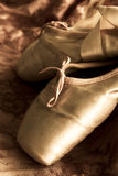 Balllet shoes. A pairl of ballet shoes exposed in the sun Stock Photos