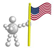 BallMan with USA flag Royalty Free Stock Images