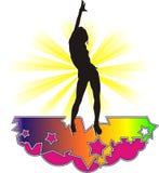 Ballo 3 di notte della stella della ragazza illustrazione vettoriale