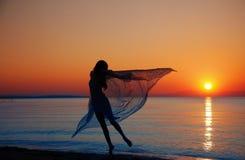 Ballo al mare Fotografia Stock
