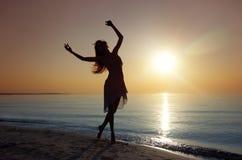 Ballo al mare Fotografie Stock