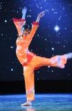 Ballo arancio delle rosso-gente Fotografie Stock