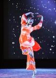 Ballo arancio delle rosso-gente Immagine Stock Libera da Diritti