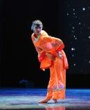 Ballo arancio delle rosso-gente Immagini Stock