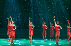 Ballo ballo-latino sexy Immagine Stock Libera da Diritti