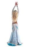 Ballo biondo della donna in costume orientale   Fotografia Stock