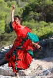 Ballo caloroso 02 di flamenco Fotografie Stock
