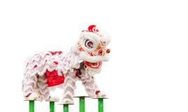 Ballo cinese del costume del leone Immagini Stock