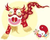 Ballo cinese del drago Illustrazione Vettoriale