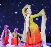 Ballo classico cinese del palazzo - tutti i fiori fiorisca insieme - ballo di opera di Pechino Immagine Stock Libera da Diritti