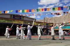 Ballo culturale al festival di Ladakh Immagine Stock