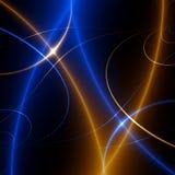 Ballo degli indicatori luminosi. fractal02x3 Immagini Stock