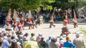 Ballo dei pastori al festival piega in Karlovo bulgaria Fotografie Stock Libere da Diritti