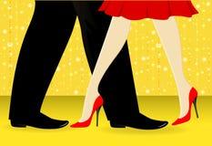 ballo dei piedini Fotografia Stock