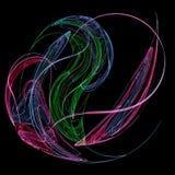Ballo dei raggi di colore Fotografia Stock