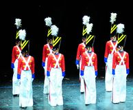 Ballo dei soldati di giocattolo Fotografie Stock