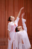 Ballo del duetto, braccio aumentante Fotografia Stock