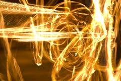 Ballo del fuoco Fotografia Stock