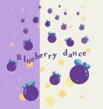 Ballo del mirtillo con la bolla Fotografie Stock Libere da Diritti