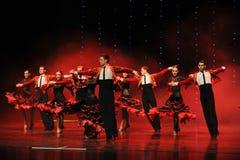 Ballo del mondo dell'Austria cavaliere-spagnola di flamenco- della tauromachia Fotografie Stock Libere da Diritti