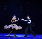 Ballo del mondo dell'Austria francese del cancan- dell'oscillazione- Fotografia Stock Libera da Diritti